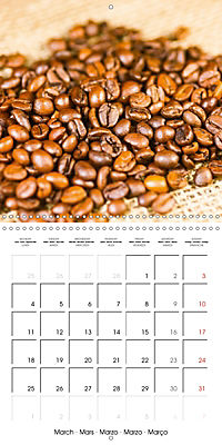 coffee (Wall Calendar 2019 300 × 300 mm Square) - Produktdetailbild 3