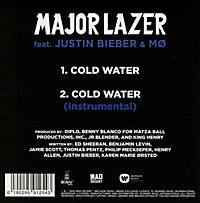 Cold Water (Feat. Justin Bieber & MO) (2-Track Single) - Produktdetailbild 1