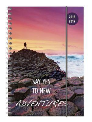 Collegetimer A5 Woche Travel Ringbuch 2018/2019, ALPHA EDITION