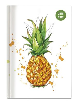 Collegetimer A6 Tag Pineapple 2018/2019, ALPHA EDITION