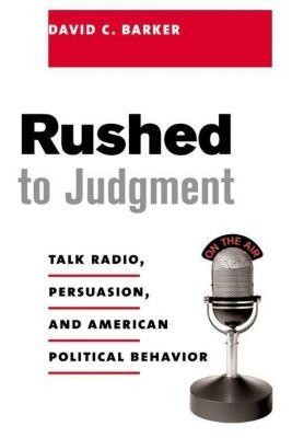 Columbia University Press: Rushed to Judgment, David Barker
