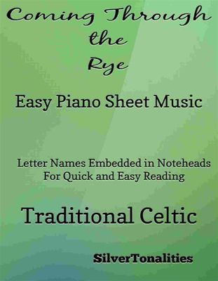 Coming Through the Rye Easy Piano Sheet Music, Traditional Celtic, SilverTonalities