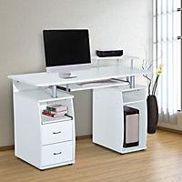 Computertisch (Farbe: weiß) - Produktdetailbild 1
