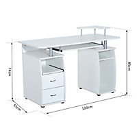Computertisch (Farbe: weiß) - Produktdetailbild 5