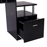 Computertisch in Nussbaum-Nachbildung - Produktdetailbild 6