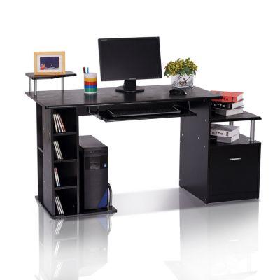 Computertisch in Nussbaum-Nachbildung