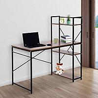 Computertisch mit Regal (Farbe: schwarz) - Produktdetailbild 1