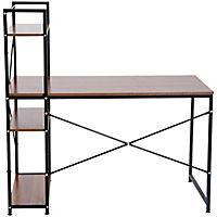 Computertisch mit Regal (Farbe: schwarz) - Produktdetailbild 2