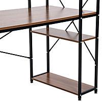 Computertisch mit Regal (Farbe: schwarz) - Produktdetailbild 5
