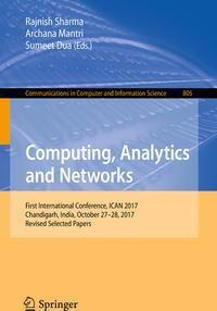 Computing, Analytics and Networks