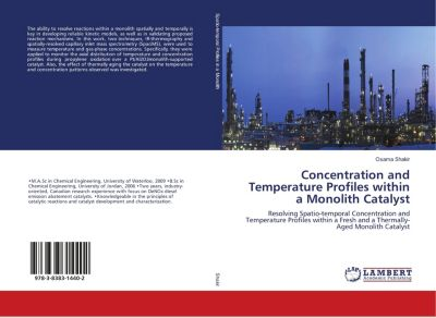 Concentration and Temperature Profiles within a Monolith Catalyst, Osama Shakir
