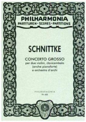 Concerto grosso Nr.1, für 2 Violinen, Cembalo, Klavier und Streicher, Partitur, Alfred Schnittke