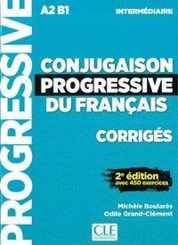 Conjugaison progressive du français, Niveau intermédiaire - 2ème édition, Corrigés