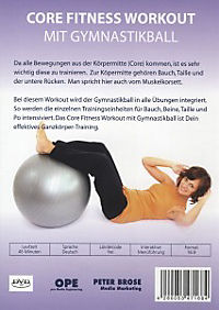 Core Fitness Workout - Ganzkörper-Training mit Gymnastikball - Produktdetailbild 1