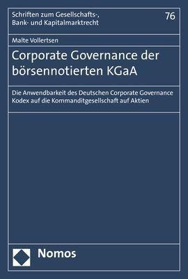 Corporate Governance der börsennotierten KGaA - Malte Vollertsen pdf epub