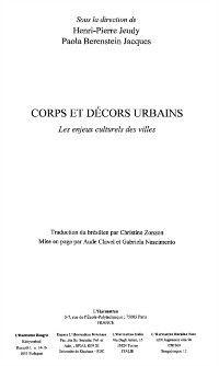 Corps et decors urbains, Collectif