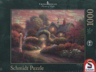Cottage im Rosengarten (Puzzle), Thomas Kinkade
