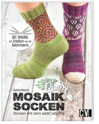 CraSy Mosaik - Socken Stricken mit dem addiCraSyTrio - Sylvie Rasch |