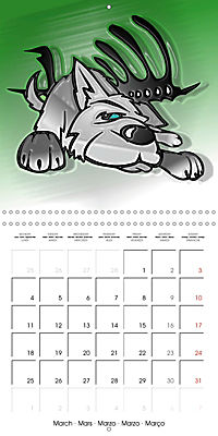Crazy Dogs in the house (Wall Calendar 2019 300 × 300 mm Square) - Produktdetailbild 3