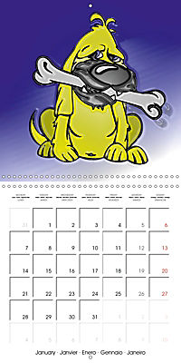 Crazy Dogs in the house (Wall Calendar 2019 300 × 300 mm Square) - Produktdetailbild 1