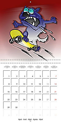 Crazy Dogs in the house (Wall Calendar 2019 300 × 300 mm Square) - Produktdetailbild 4