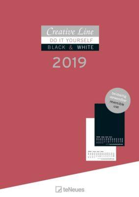 Creative Line Bastelkalender black & White 2in1 2019