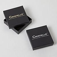 Crystelle Gold Anhänger mit Kette 375/- Gelbgold Swarovski Kristalle weiß - Produktdetailbild 1