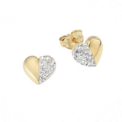 Crystelle Gold Ohrstecker 375/- Gelbgold Swarovski Kristalle