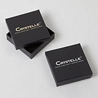 Crystelle Ohrstecker 925/- Sterling Silber Swarovski Kristalle rosa 1,0cm Geschwärzt - Produktdetailbild 2