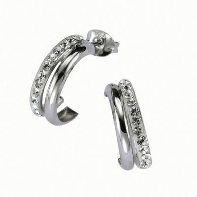 Crystelle Silber Creole 925/- Sterling Silber Swarovski Kristall