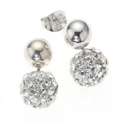 Crystelle Silber Ohrhänger 925/- Sterling Silber Swarovski Kristall