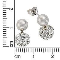 Crystelle Silber Ohrhänger 925/- Sterling Silber Swarovski Kristall - Produktdetailbild 1