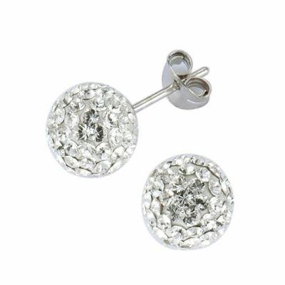 Crystelle Silber Ohrstecker 925/- Sterling Silber Swarovski Kristall