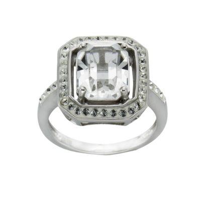 Crystelle Silber Ring 925/- Sterling Silber Swarovski Kristalle (Größe: 054 (17,2))