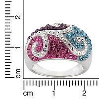 Crystelle Silber Ring 925/- Sterling Silber Swarovski Kristalle (Größe: 058 (18,5)) - Produktdetailbild 2
