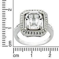 Crystelle Silber Ring 925/- Sterling Silber Swarovski Kristalle (Größe: 052 (16,6)) - Produktdetailbild 2