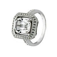 Crystelle Silber Ring 925/- Sterling Silber Swarovski Kristalle (Größe: 054 (17,2)) - Produktdetailbild 1