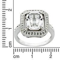 Crystelle Silber Ring 925/- Sterling Silber Swarovski Kristalle (Größe: 056 (17,8)) - Produktdetailbild 2