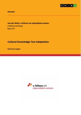 Cultural Knowledge Test Adaptation
