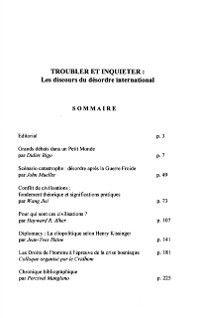 Cultures et conflits no. 19-20, Collectif