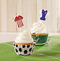"CupCake Deko-Set ""Fußball"", 60-teilig - Produktdetailbild 2"