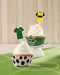 "CupCake Deko-Set ""Fußball"", 60-teilig - Produktdetailbild 1"