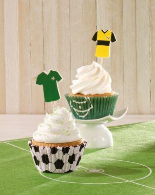 cupcake deko set fu ball 60 teilig bestellen. Black Bedroom Furniture Sets. Home Design Ideas