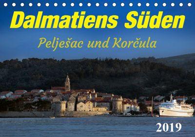Dalmatiens Süden, Peljesac und Korcula (Tischkalender 2019 DIN A5 quer), Werner Braun