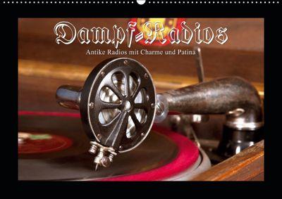 Dampfradios - Antike Radios mit Charme und Patina (Wandkalender 2019 DIN A2 quer), Haselnusstafel