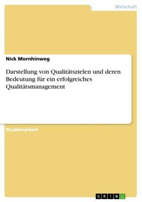 Darstellung von Qualitätszielen und deren Bedeutung für ein erfolgreiches Qualitätsmanagement, Nick Mornhinweg