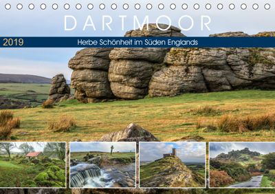 Dartmoor, herbe Schönheit im Süden Englands (Tischkalender 2019 DIN A5 quer), Joana Kruse
