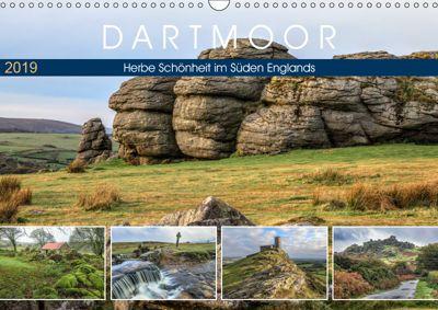 Dartmoor, herbe Schönheit im Süden Englands (Wandkalender 2019 DIN A3 quer), Joana Kruse