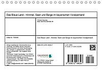 Das Blaue Land - Himmel, Seen und Berge im bayerischen Voralpenland (Tischkalender 2019 DIN A5 quer) - Produktdetailbild 13