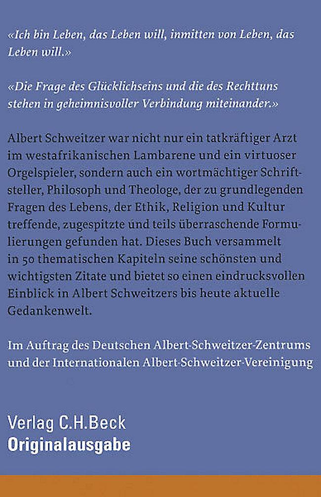Das Buch der Albert-Schweitzer-Zitate Buch portofrei - Weltbild.de